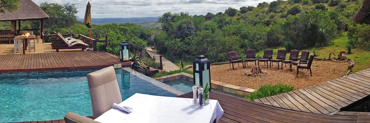 bukela game lodge title image view from pool